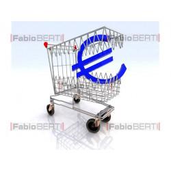 shopping cart biting euro
