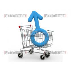 Cart with symbol man