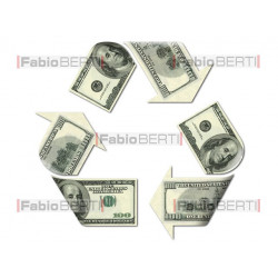 recycling symbol dollar