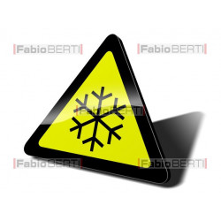 cartello pericolo neve