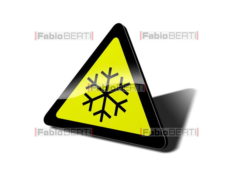 snow traffic sign