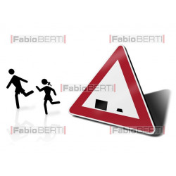 eccentric school traffic sign