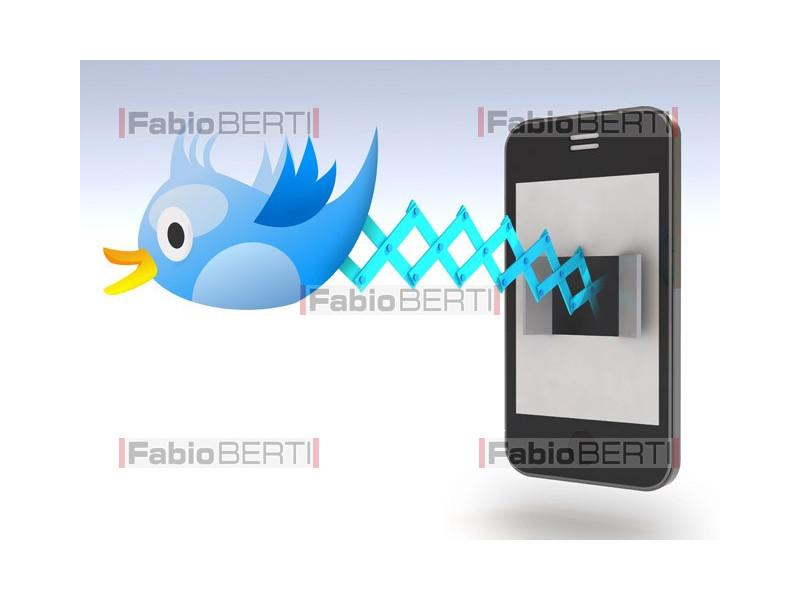 twitter concept smartphone