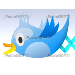 concetto twitter smartphone