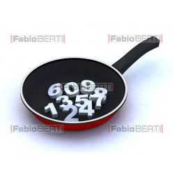 pan with numbers