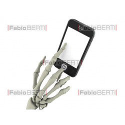 mano scheletro smartphone