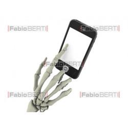 skeletal hand smartphone