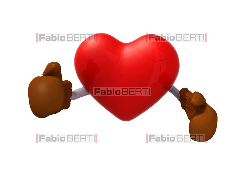cuore con guantoni