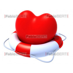 heart with lifebuoy