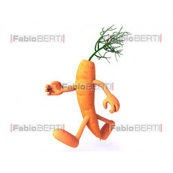 carota in corsa