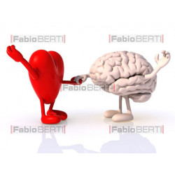 heart and brain dancing