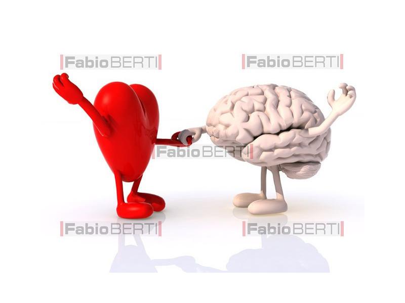 heart and brain dancing