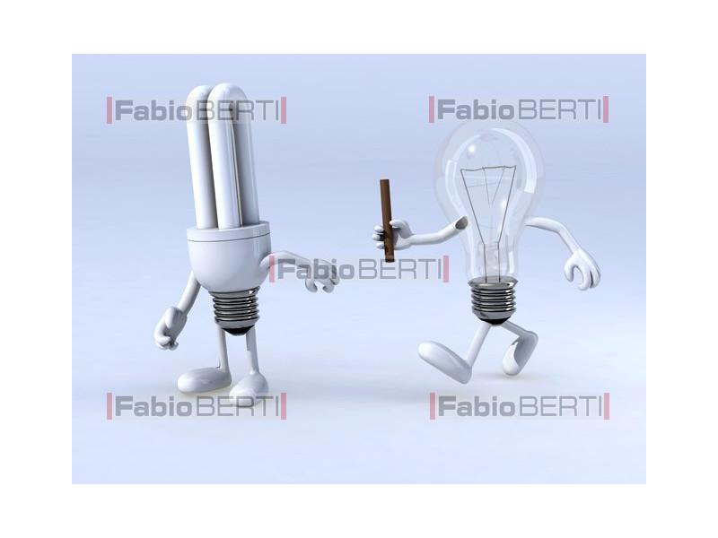 relay race between bulbs