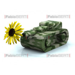carro armato fiore