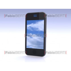 smartphone with clouds
