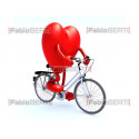 heart in bicycle