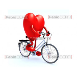 heart with bicycle
