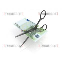 100 euro banknote cut