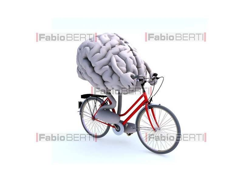 brain in bicycle