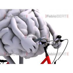 cervello in bicicletta