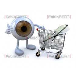 eye with shopping cart