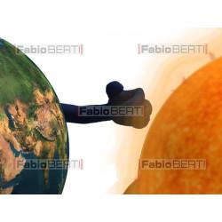 moon, world and sun running
