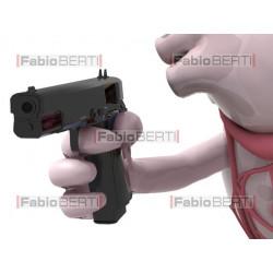 cuore con la pistola