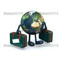 world with suitcases