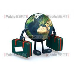 mondo con valigie