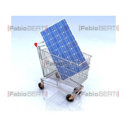 shopping cart solar panel