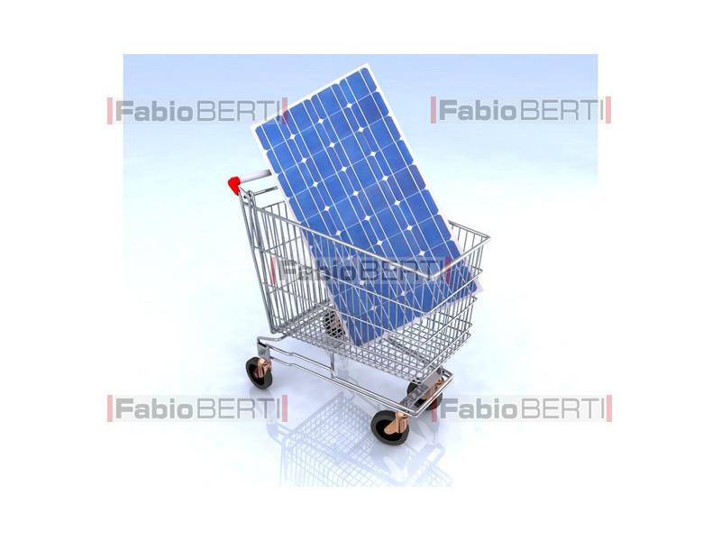 carrello con pannello fotovoltaico