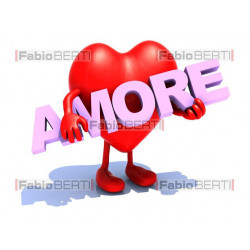 "heart with word ""amore"""