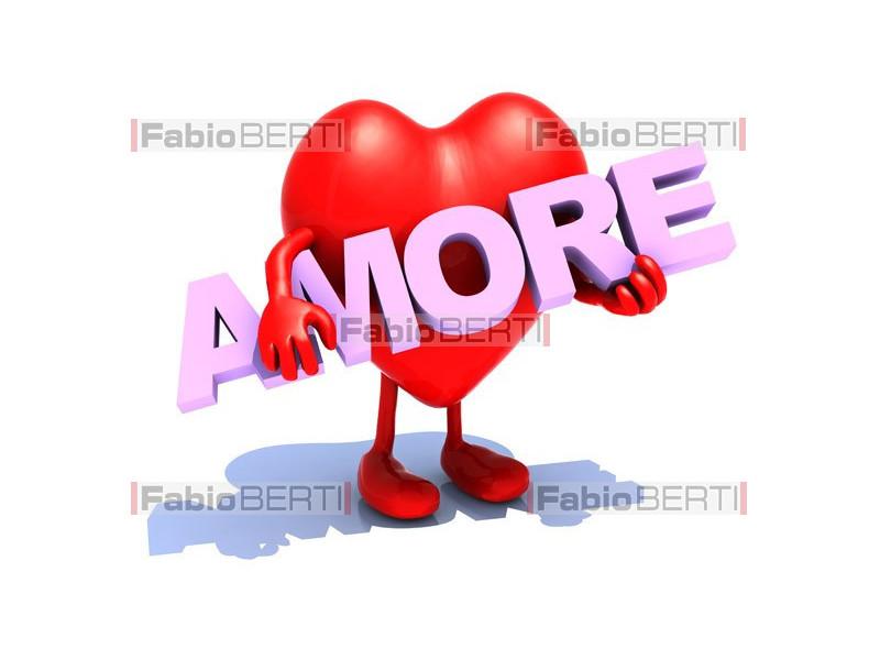 cuore con scritta amore