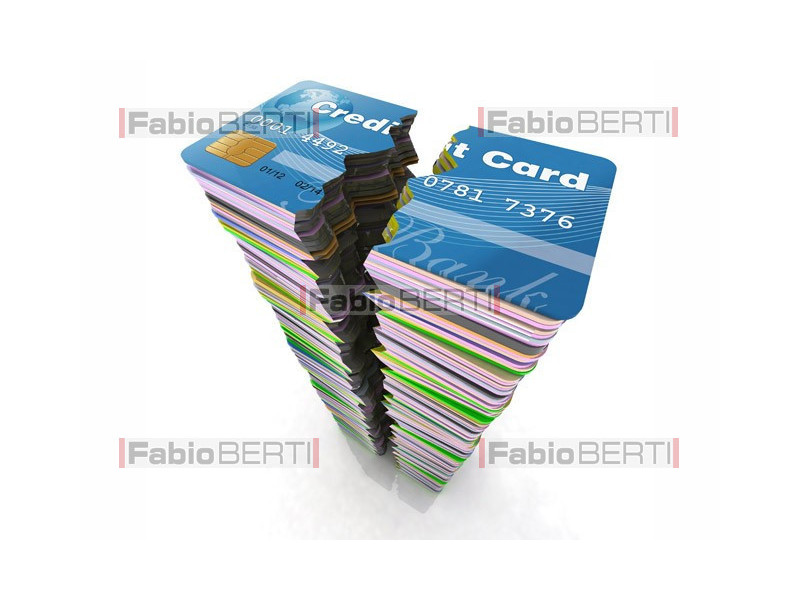 credit cards broken