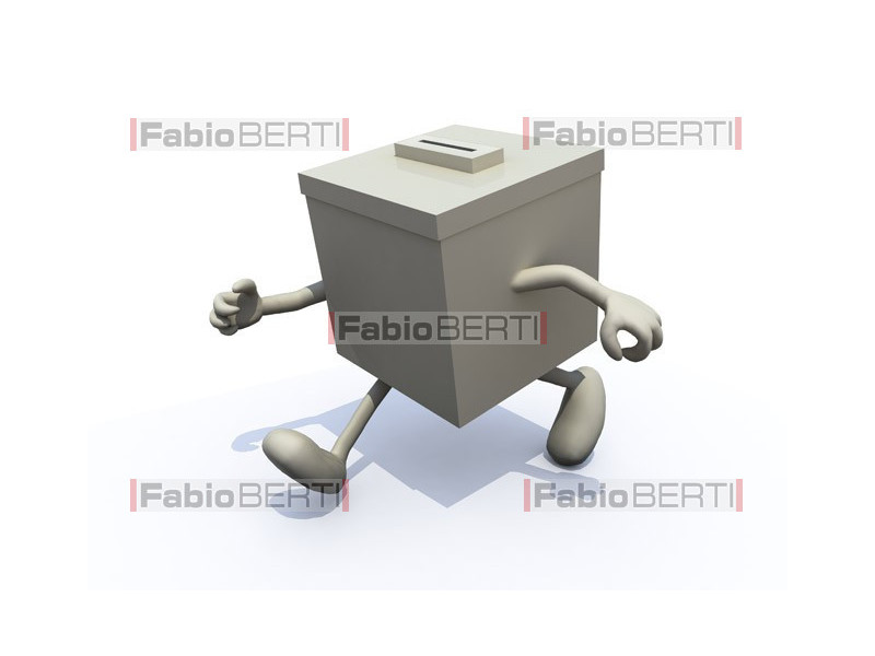 ballot box walking
