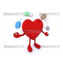cuore con pillole