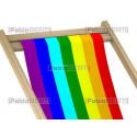 beach chairs rainbow