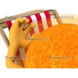 sun relaxing