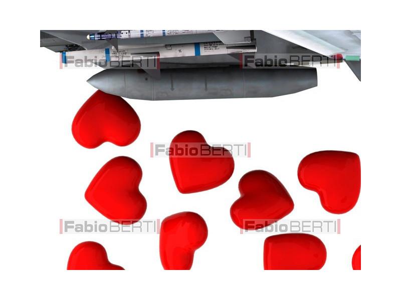 airplane launching heart