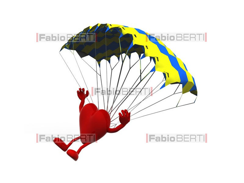 heart with parachute