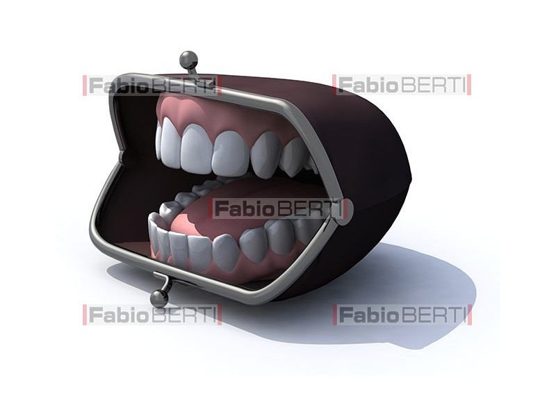 denture in a wallet