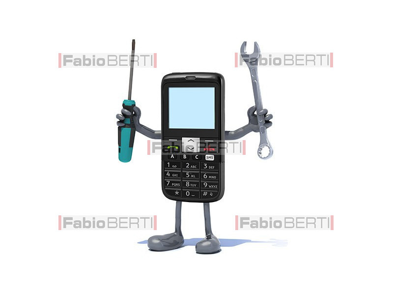 cell phone with utensils