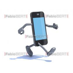 smartphone che corre