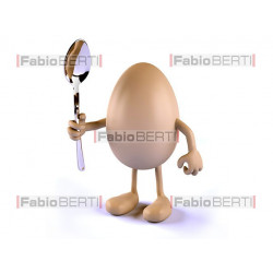 egg with a spoon