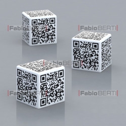 dice with qr code