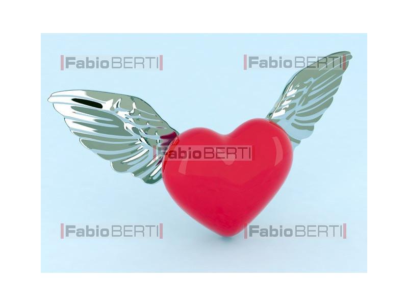 cuore con le ali