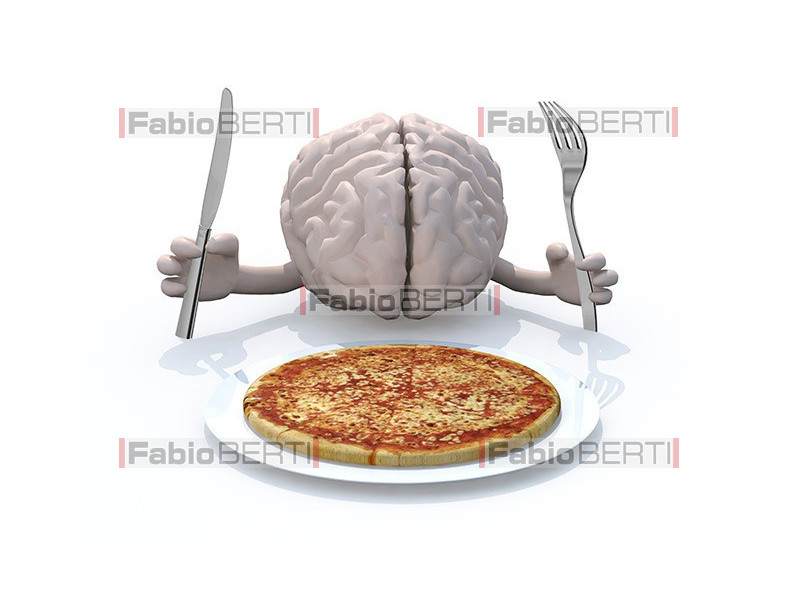 brain and pizza