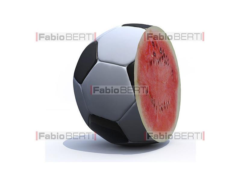 soccer ball watermelon