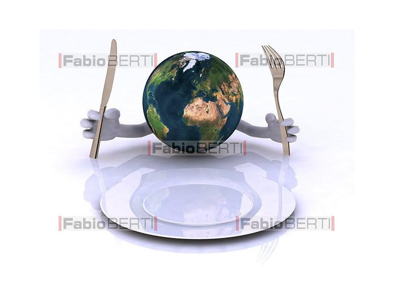 mondo davanti al piatto