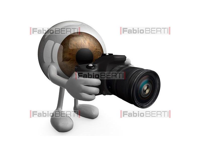 eye with camera